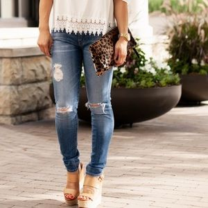 Adriano Goldschmied Ag Nicki Ripped Jeans Light